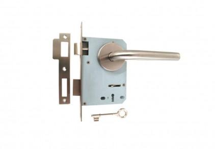 Conjunto Fechaduras c/ Puxador Ref. 02/716 Inox Escovado